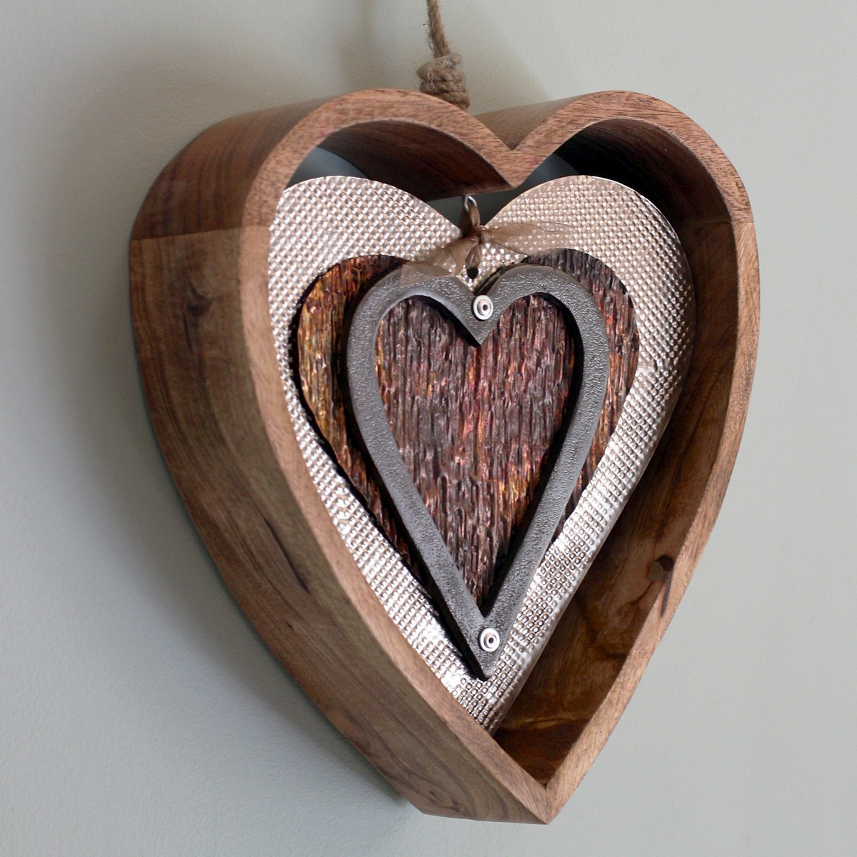 Carol braden llc wooden heart wall decor for Wooden heart wall decor
