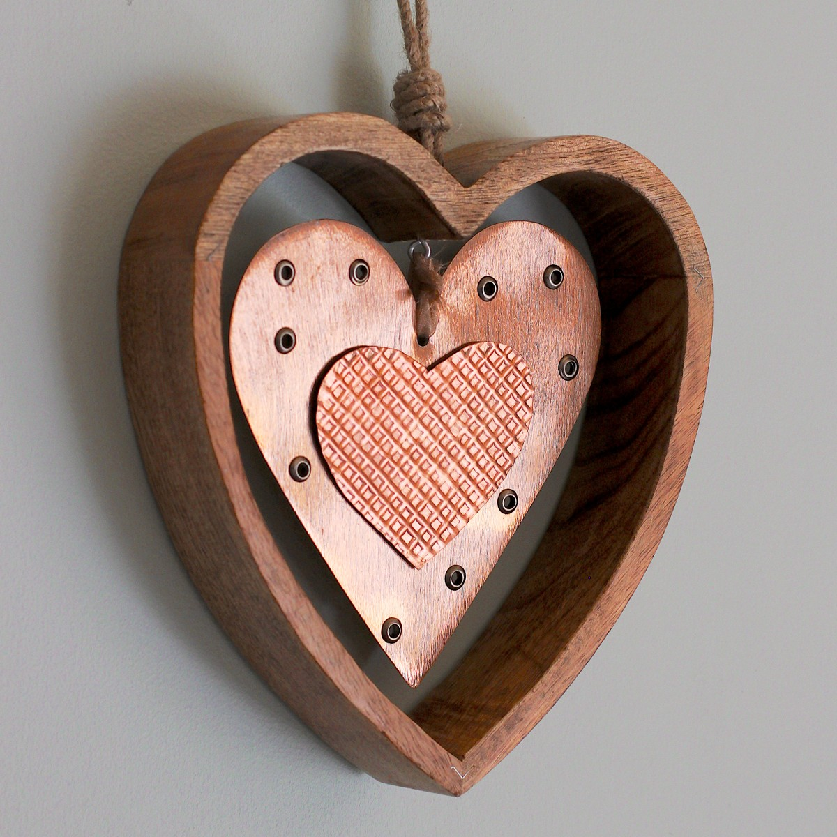 Copper Wall Decor carol braden, llc. wood and copper heart wall decor